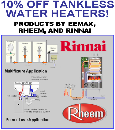 4h Plumbing Tankless Water Heaters By Eemax And Rinnai